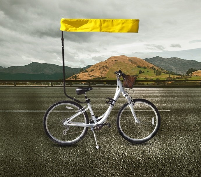 bicycle sun shade blog