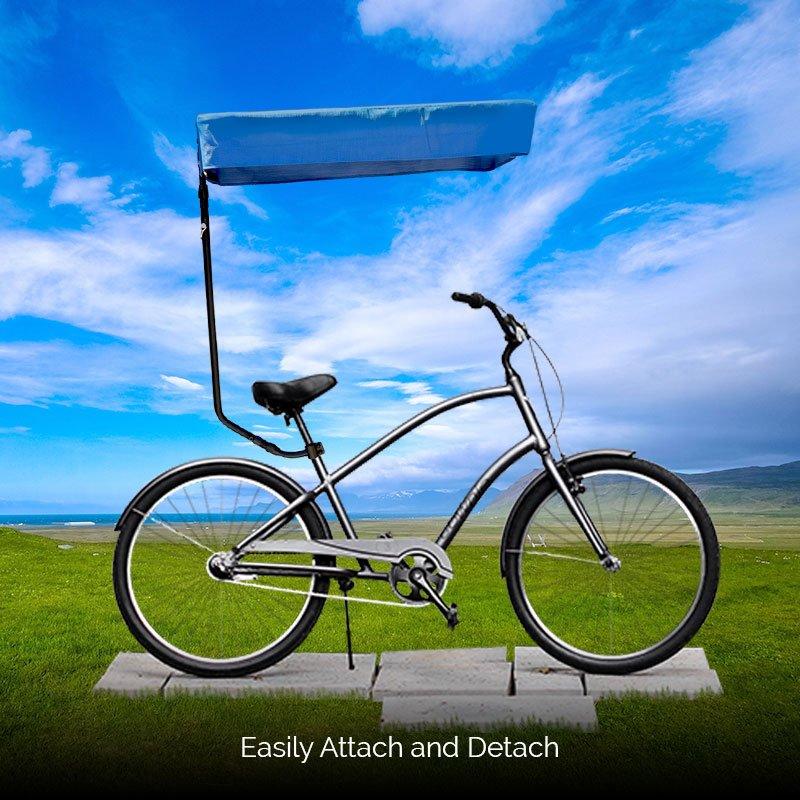 Blue Bicycle Sunshade